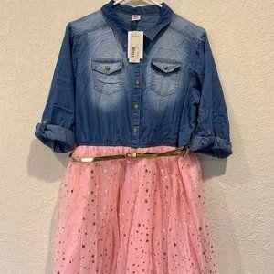 NWT Arizona Jean Denim & Tulle Dress - PLUS sz 20